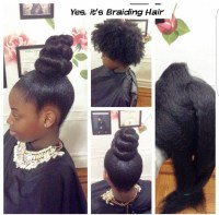 Yes, I used Braiding Hair for this Bun/Ponytail  www ...
