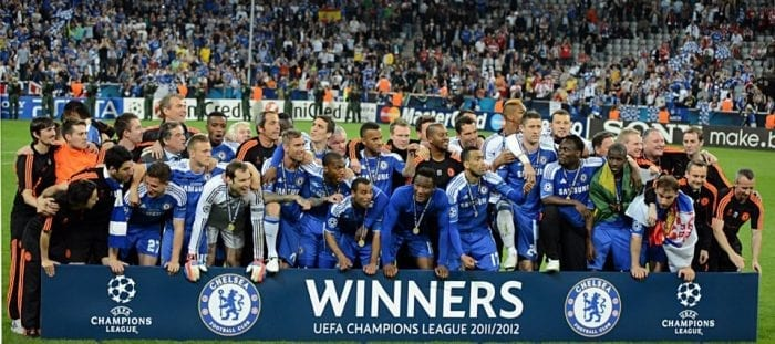 Chelsea UEFA Champions League Winners 2012