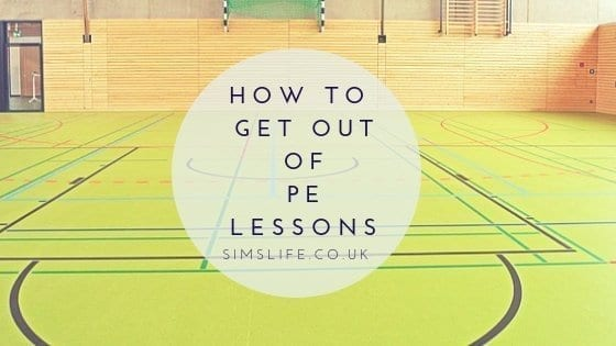 how to get out of PE lessons