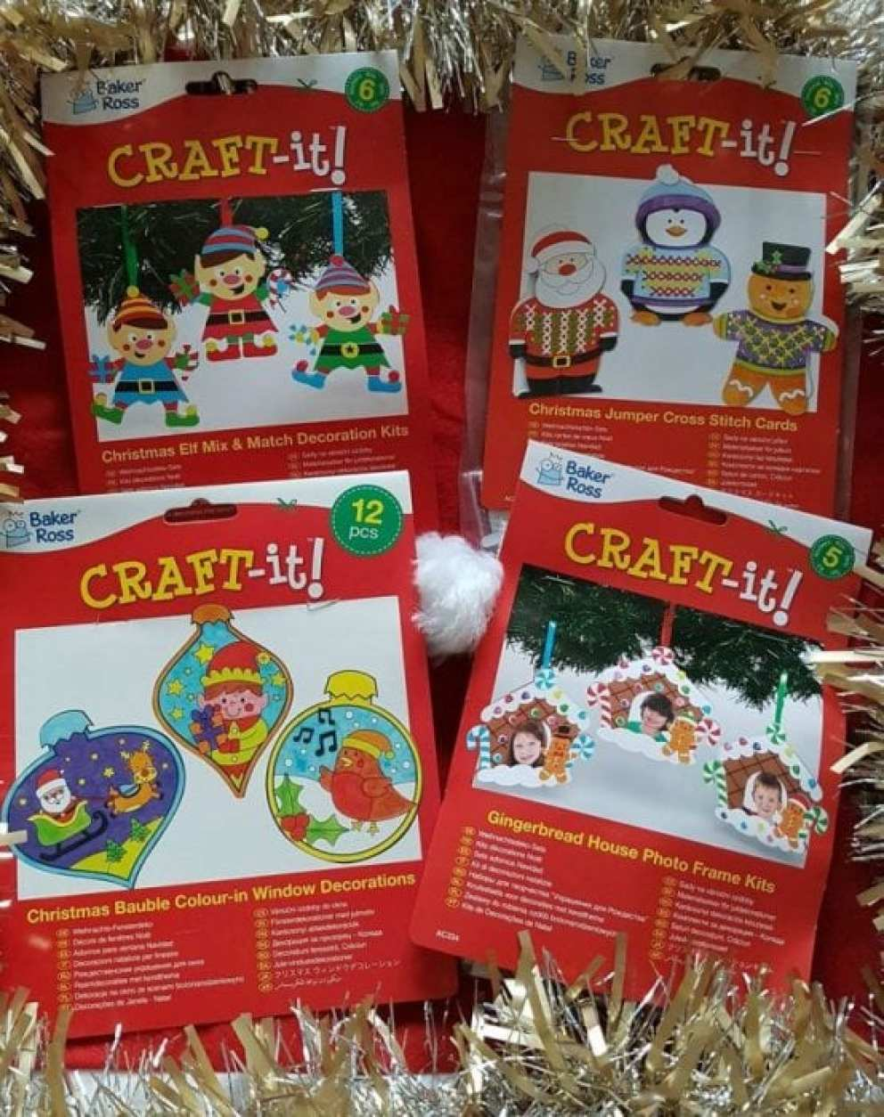Baker Ross Christmas Crafting Kits
