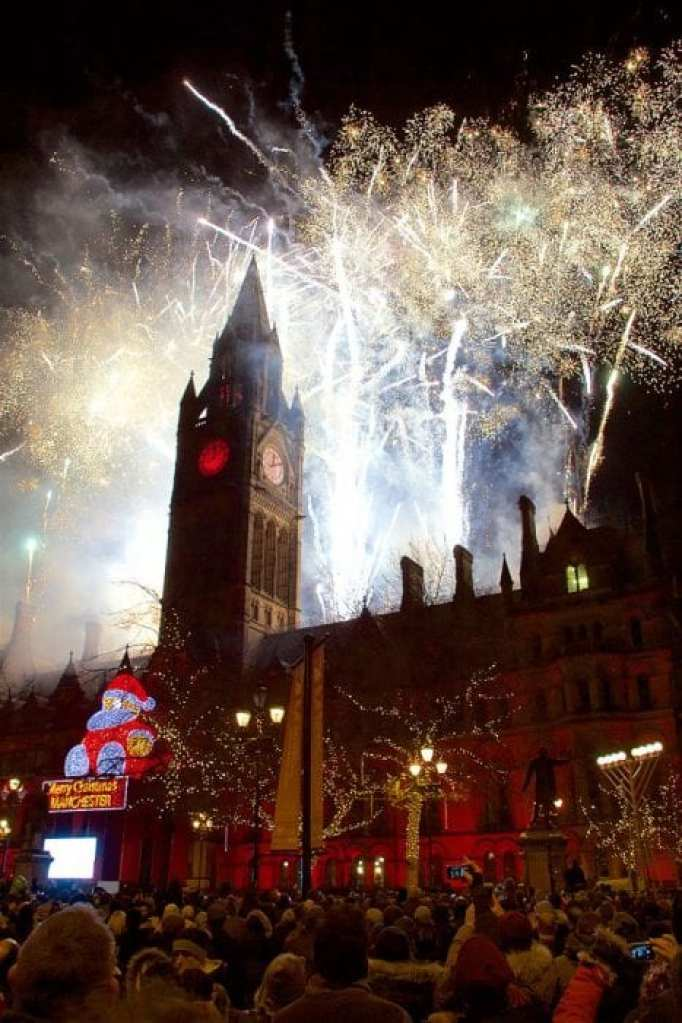 New Year Fireworks Manchester 2016