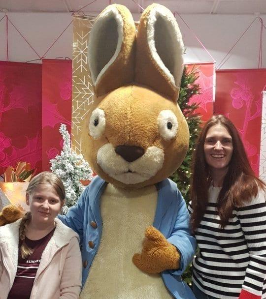 Trafford Centre Christmas Parade Peter Rabbit