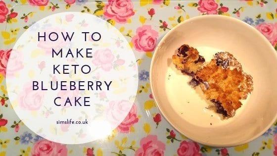 How To make keto blueberry cake