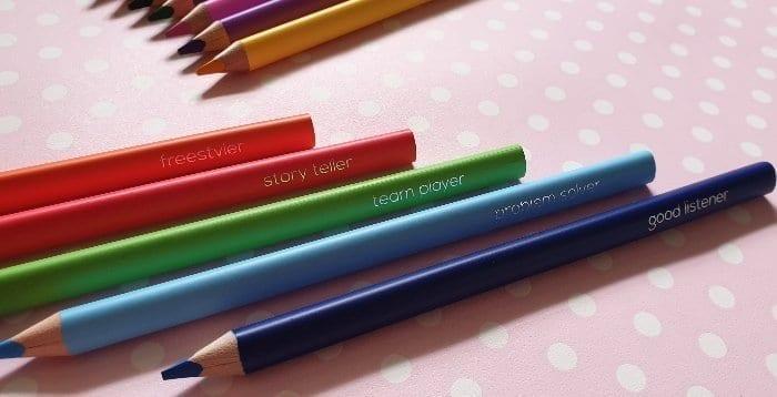 Motivational colouring pencils