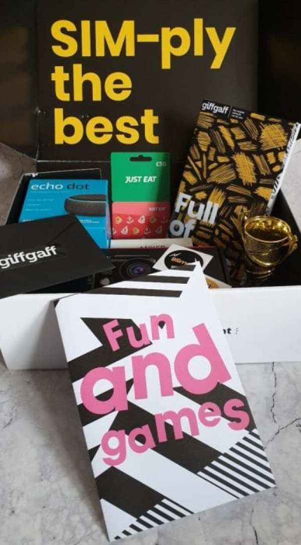 GiffGaff Games night pack