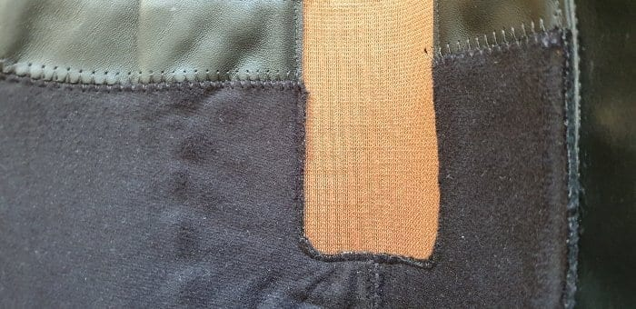 Inside stitching on Hotter Sandringham boots
