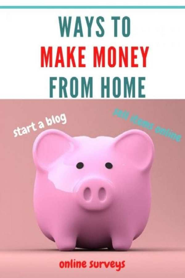 Ways to make money from home Pinterest