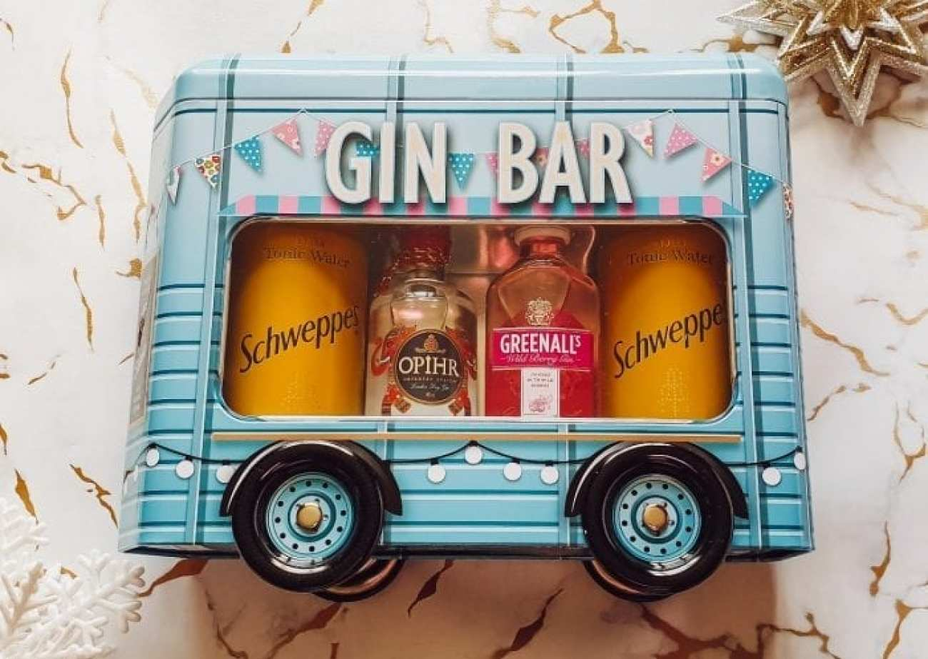 Gin Bar tin from Home Bargains