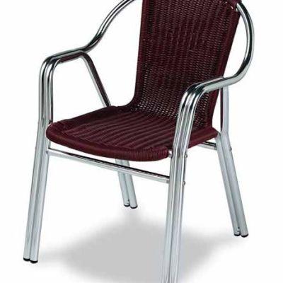 silla aluminio M284 terraza exterior