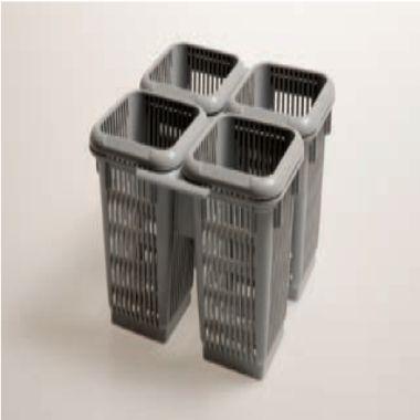 contenedor de cubiertos de 4 compartimentos para lavavajillas