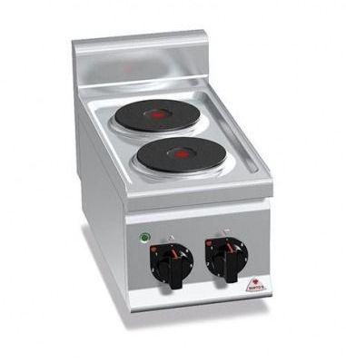 Cocina industrial 2 fuegos eléctrica sobremesa Berto's E6P2B