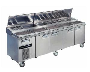 Mesa refrigerada para pizzas MR PZR fondo 800 mm