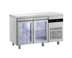 Mesas refrigeradas y bajos mostradores gastronorm puerta cristal mrc 2 er bmc 2 er