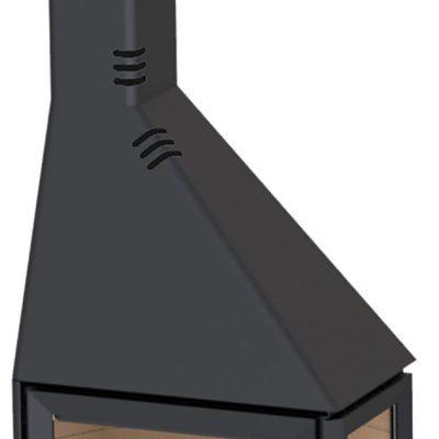 DER Estufa de leña Boreal CH4000E