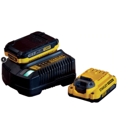 Pack 2 Baterías Stanley V20Li-Ion + Cargador