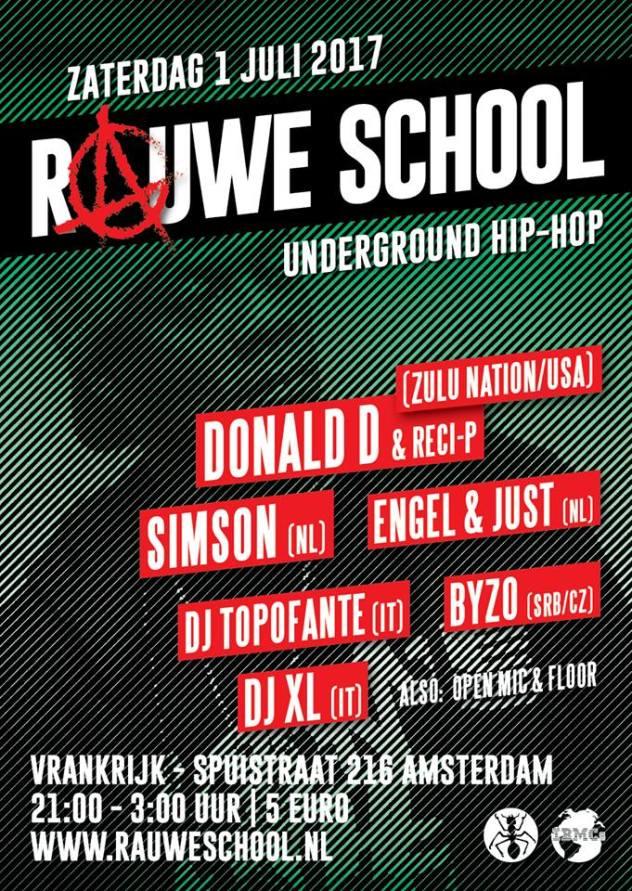 Poster Rauwe school