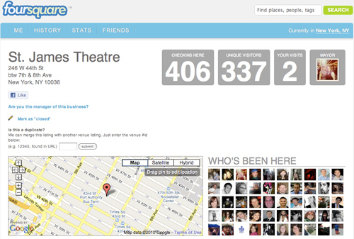 Broadway Marketing Ready to Play Foursquare