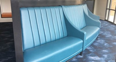 Custom Wall Bench with Arm Rests