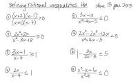 Solving Rational Inequalities Worksheet Algebra 2 - extra ...