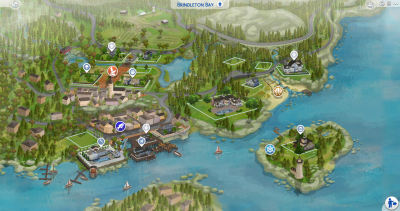 The Sims 4: World Map Replacements for ALL Worlds Now ...