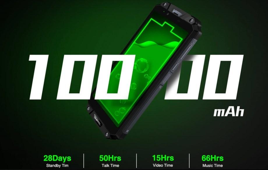 OUKITEL WP2のバッテリー