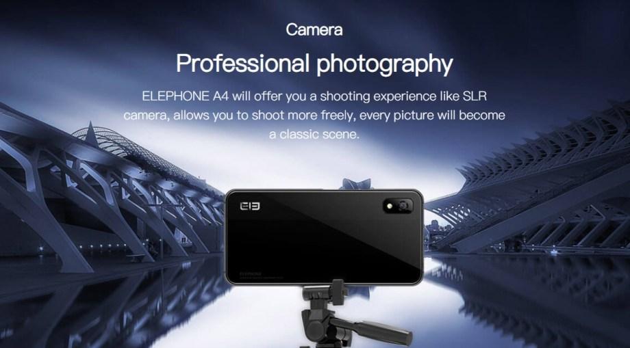 Elephone A4 camera