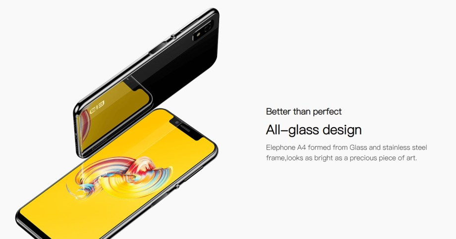 Elephone A4 glass