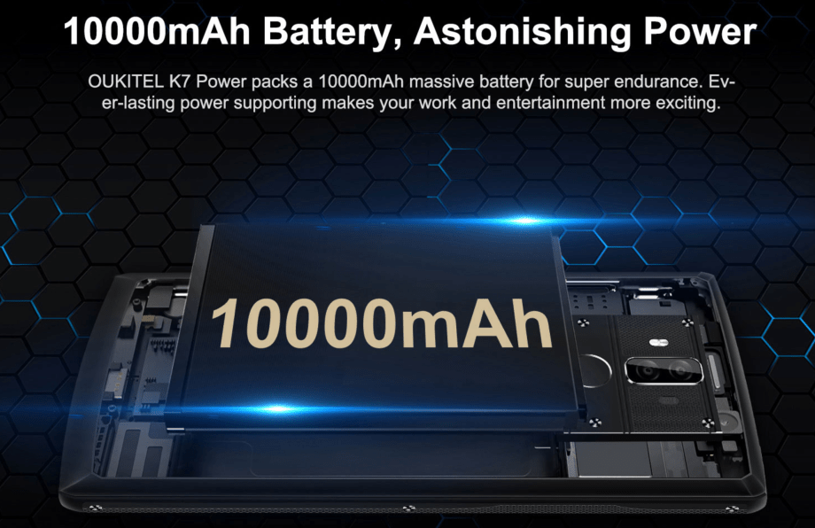 OUKITEL K7 Power battery