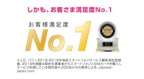 UQモバイルはお客様満足度No.1