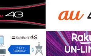 各社の4Gサービス取組