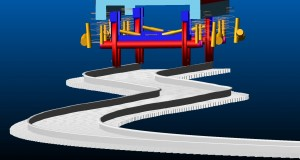 Curved and irregular track causes dynamic load changes on bogie frame