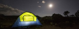 best hand crank phone charger - tent