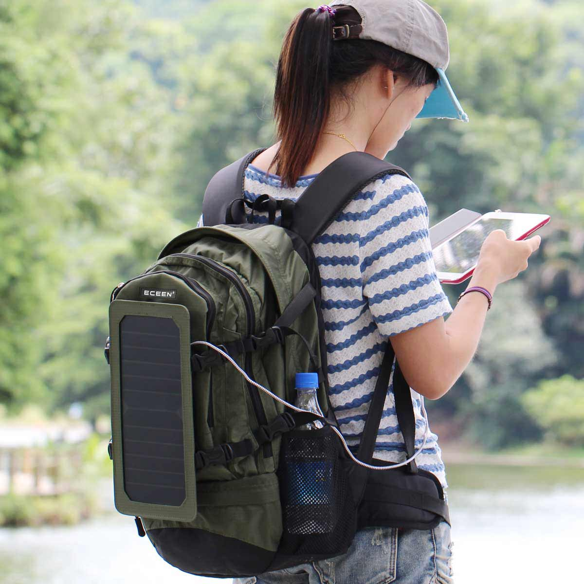 smart backpack in use