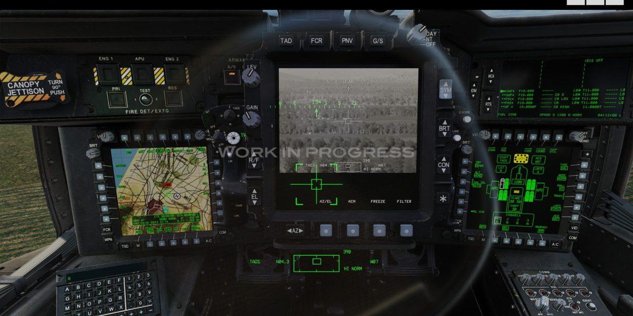 DCS: AH-64D 30mm představení 30mm řetězového kanónu