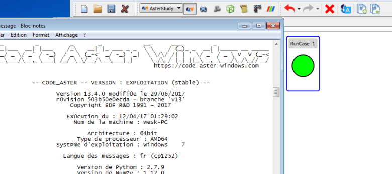 A simple tutorial to get started with Code_Aster and Salome-Meca on Windows