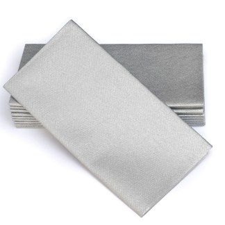 SimuLinen Signature Colored Silver Dinner Napkins