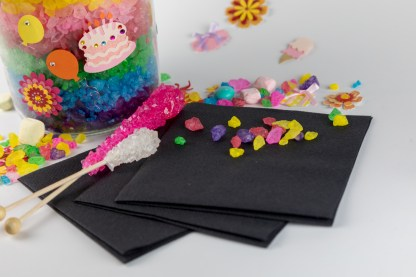 SimuLinen Cocktail and Party Napkins Beverage Napkins – Decorative, Absorbent, Cloth Like and Disposable - Black