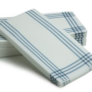 SimuLinen Blue Plaid 25ct Bathroom Hand Towel
