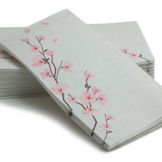 SimuLinen Cherry Blossoms 25ct Bathroom Hand Towel