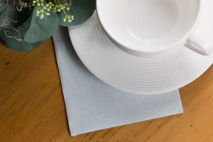 SimuLinen Cocktail Beverage Party Napkins - Light Grey