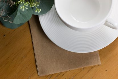 SimuLinen Cocktail Beverage Party Napkins - Natural Brown