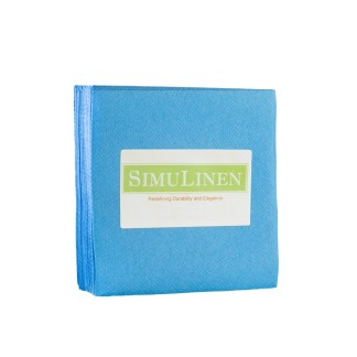 SimuLinen AQUA BLUE Cocktail Beverage Napkins