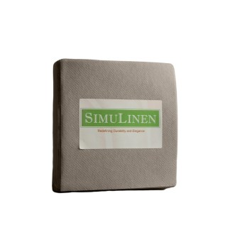 SimuLinen Beige Grey Beverage Cocktail Party Napkin