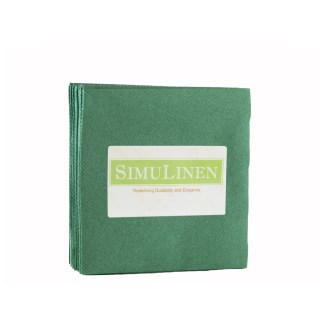 SimuLinen DARK GREEN Cocktail Beverage Napkins