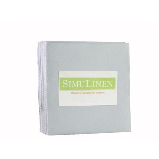 SimuLinen GREY Cocktail Beverage Napkins