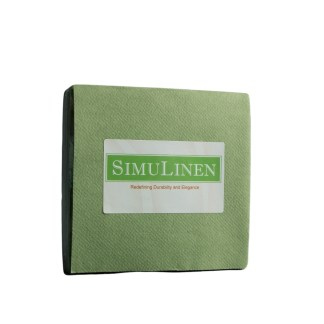SimuLinen Cocktail Beverage Party Napkins - Olive Green