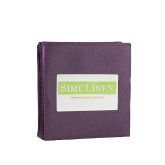 SimuLinen PLUM Cocktail Beverage Napkins
