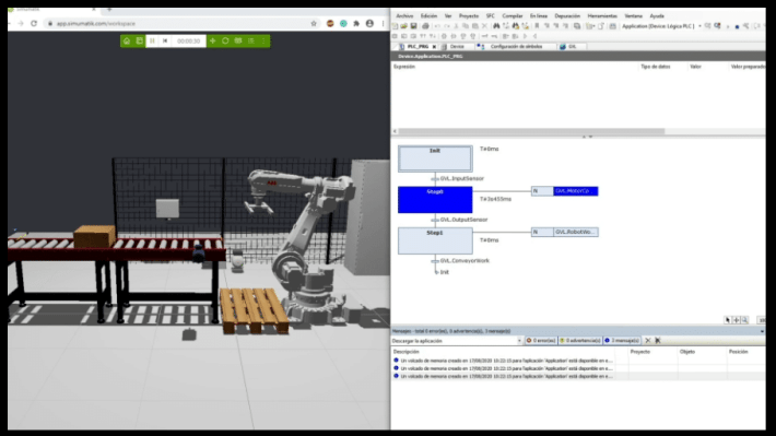 Online engineering. Integrating the platform with other third-party software e.g. Codesys.