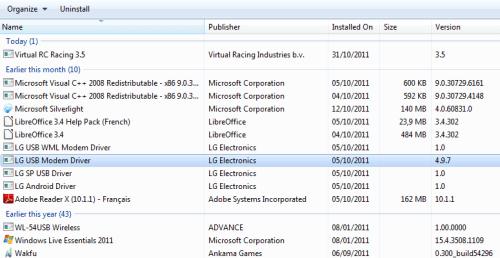 Windows 7, nulle la désinstallation