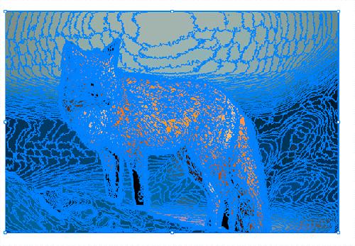 décomposer image vectorisation
